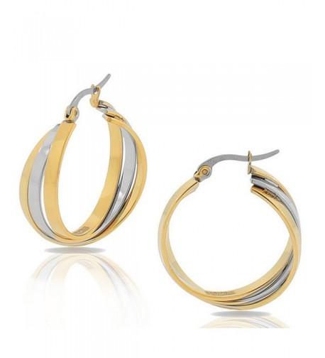 EDFORCE Stainless Multi Tone Multi Bangle Earrings