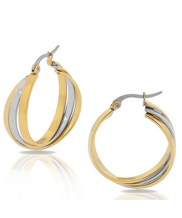 EDFORCE Stainless Multi Tone Multi Bangle Earrings