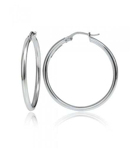 Hoops Loops Sterling Polished Earrings