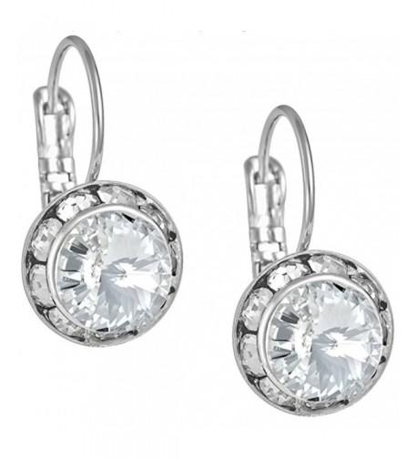 Austrian Crystal Silver Framed Earrings