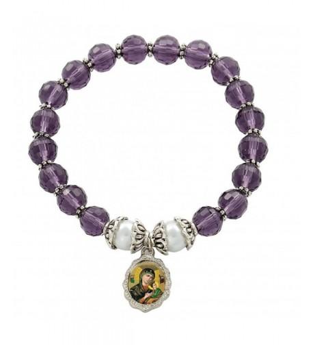Perpetual Medal Bracelet Amethyst Crystal