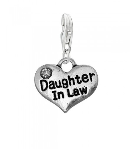 Daughter Heart Pendant Bracelet Necklace