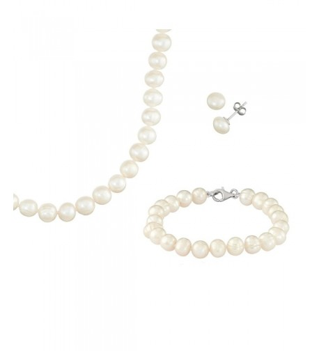 Potato Sterling Necklace Bracelet Earring