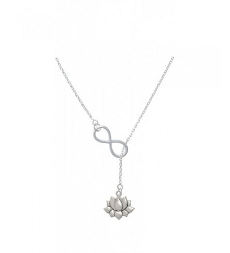 Silvertone Medium Flower Infinity Necklace