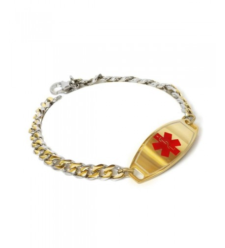 MyIDDr Engraved Medical Bracelet Stainless