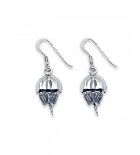 Sterling Silver Horseshoe Crab Earrings