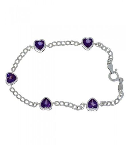 Created Alexandrite Bracelet Sterling Rhodium