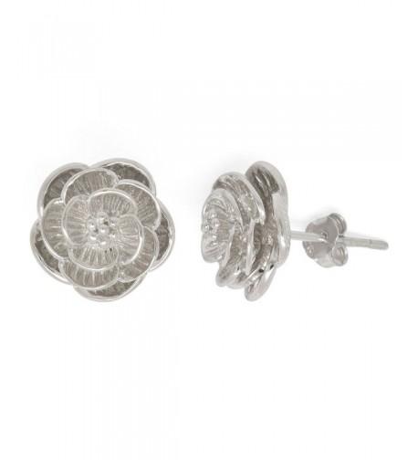 Sterling Silver Blooming Flower Earrings