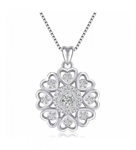 Sterling Zirconia Vintage Pendant Necklace