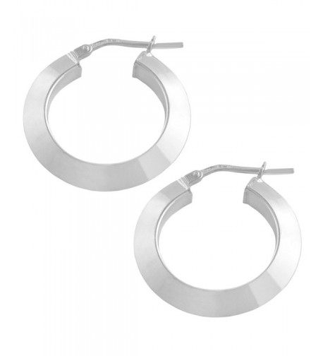 Sterling Silver 4x15mm Round Earrings