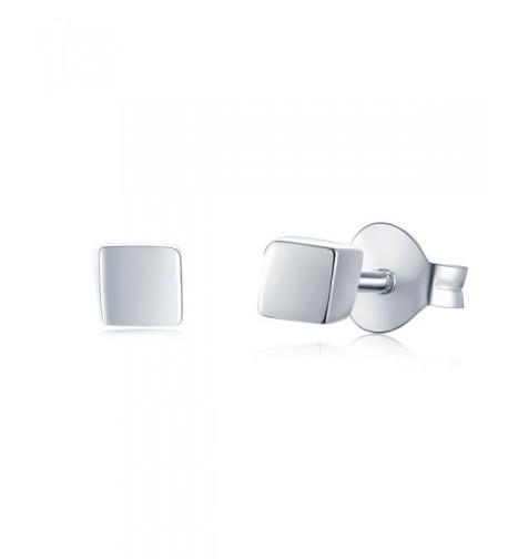 MBLife Sterling Silver Square Earrings