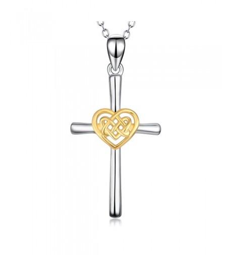 YFN Sterling Platinum Polished Necklace