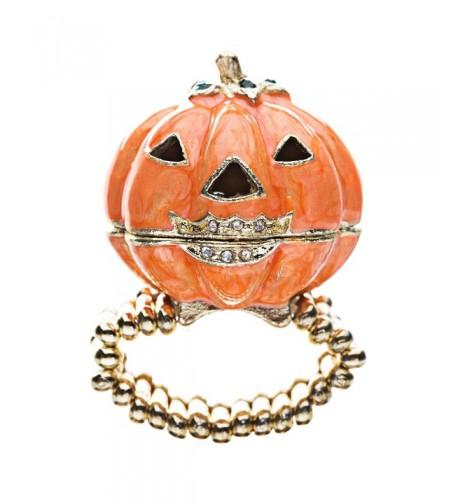 Halloween Jewelry Locket Pumpkin Stretch