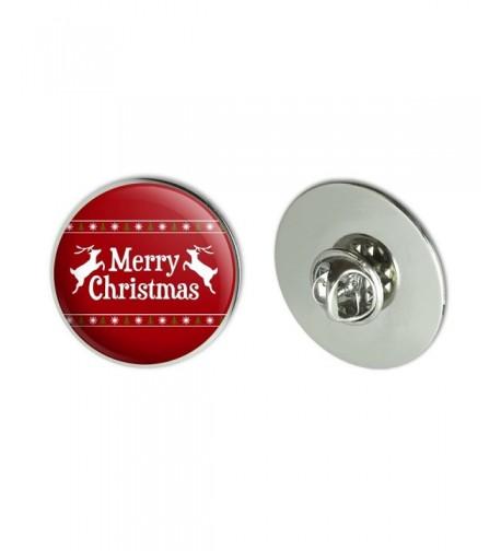 Merry Christmas Holiday Reindeer Pinback