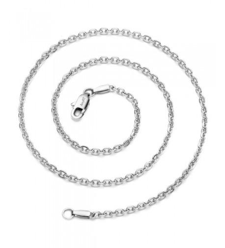 AmyRT Jewelry Titanium Silver Necklaces