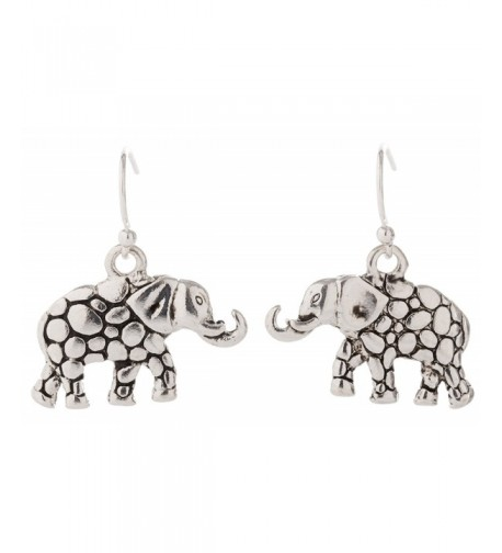 Artisan Owl Elephant Decorative Earrings