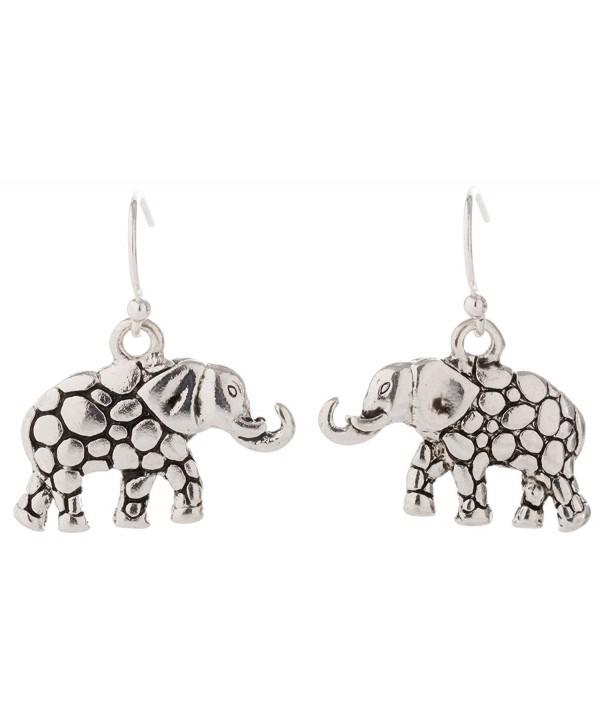 Artisan Owl Elephant Decorative Earrings