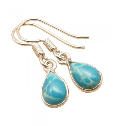Natural LARIMAR Little Earrings Jewelry