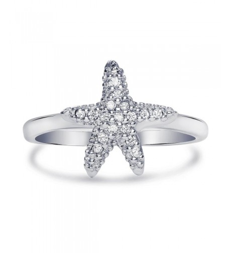 Sterling Silver Cubic Zirconia Starfish
