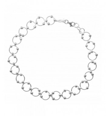 Sterling Silver 10 inch Comfortable Beaded