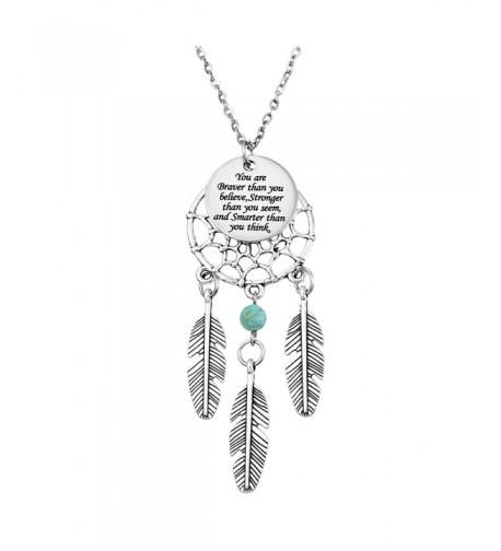 MJARTORIA Dangling Filigree Dreamcatcher Necklace