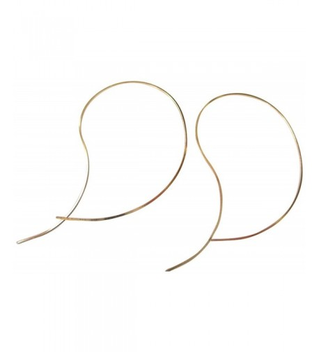 Filled Curve Swirl Threader Earrings