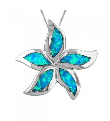 Sterling Silver Synthetic Starfish Plumeria