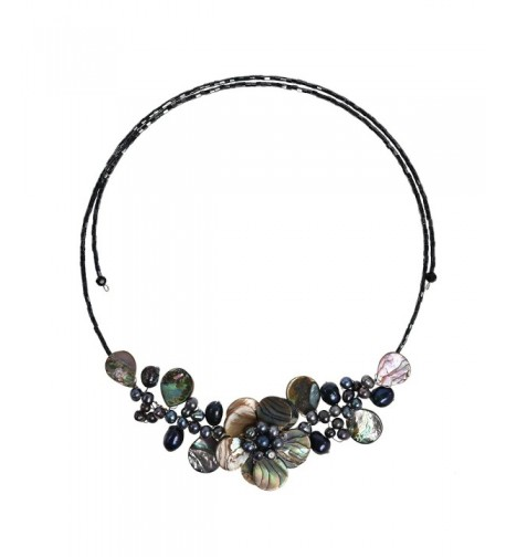 Wreath Abalone Cultured Freshwater Necklace