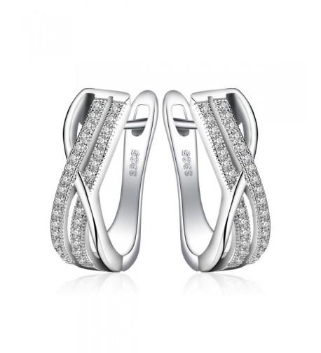 JewelryPalace Infinity Zirconia Anniversary Earrings