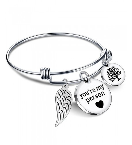 Bracelets Bangle Pendant Friends Stainless