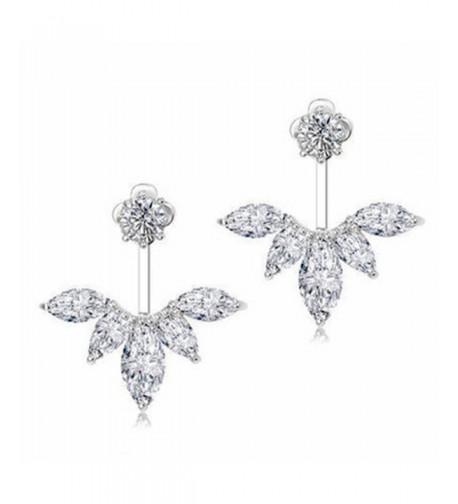 Odette Crystal Feather Earrings Earring
