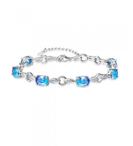 BONLAVIE 4 prong Created Sterling Bracelet