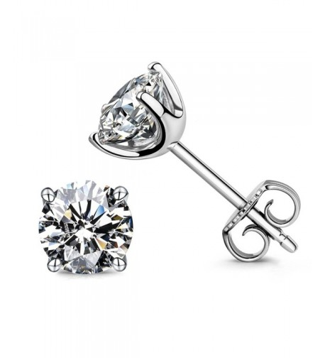Earrings Sterling Brilliant Simulated Diamond