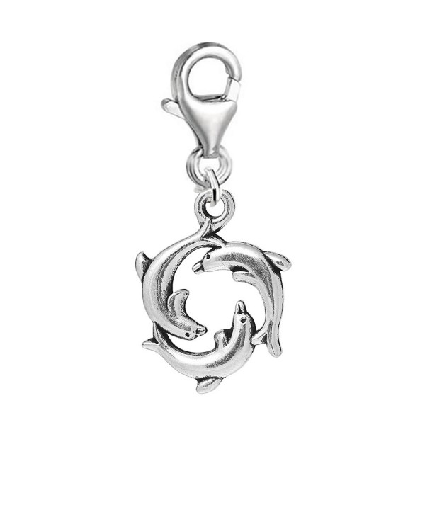 Round Dolphin Pendant Bracelet Necklace