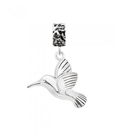 Sterling Silver Hummingbird Dangle Bracelet