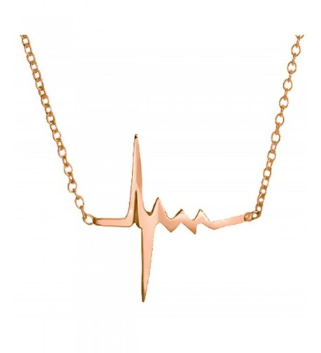 Heartbeat Pendant Necklace Sterling Valentines