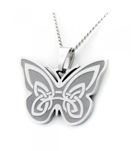 Celtic Butterfly Design Pendant Necklace