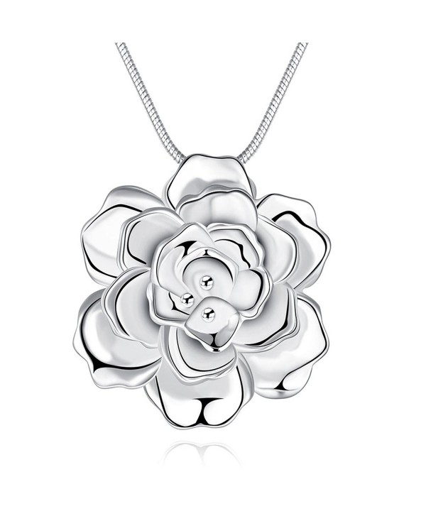 SunIfSnow Silver Romantic Pendant Necklace