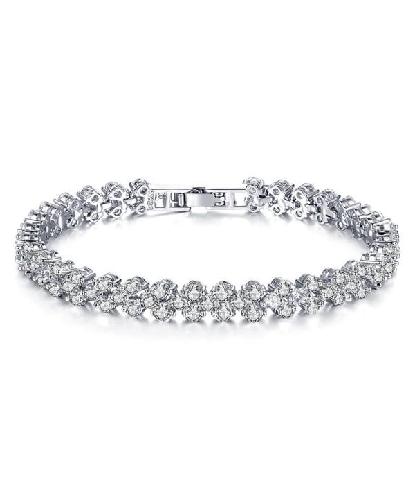 Cyntan Elegant Rhinestone Stretch Bracelet