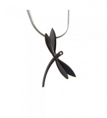 Zirconia Stainless Dragonfly Pendant Necklace