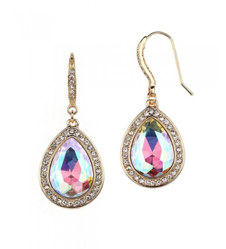 Mariell Crystal Pear Shaped Earrings Bridesmaids