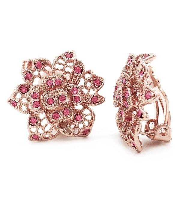 Sparkly Bride Earrings Crystal Filigree