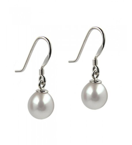 Freshwater Cultured Sterling Rhodium Earrings