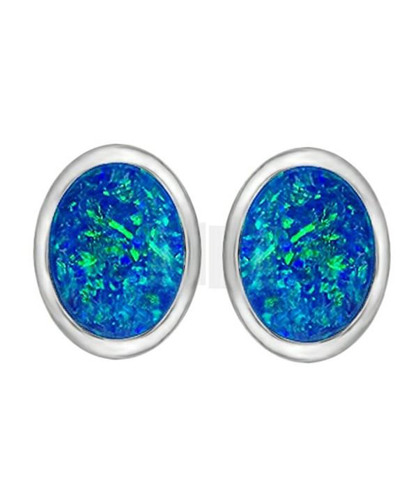 Star Created Earrings Sterling Silver