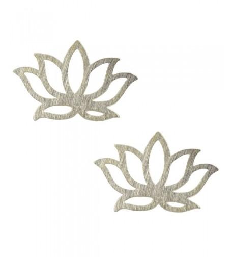 AppleLatte Flower Earrings Silver Plated