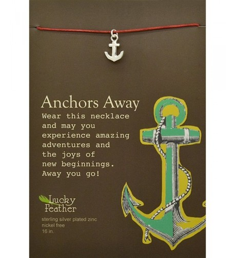 Lucky Feather Anchors Sterling Necklace