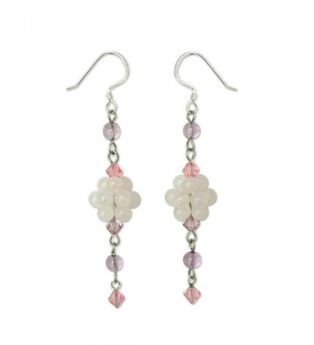 NOVICA Multi Gem Sterling Earrings Enchanted