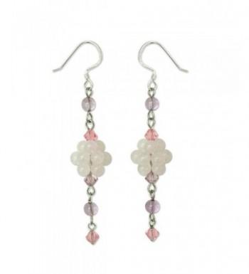 NOVICA Multi Gem Sterling Earrings Enchanted