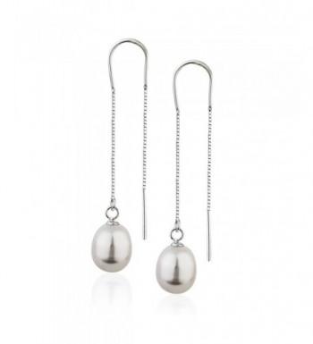 Sterling Cultured Freshwater Earrings Threader