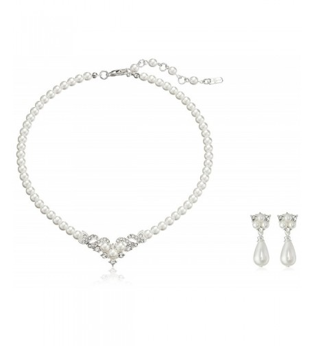 ACCESSORIESFOREVER Wedding Jewelry Beautiful Necklace